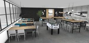 Projectinrichting Breko kantine indeling