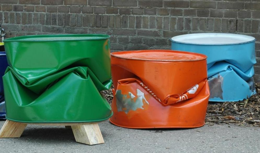 Projectinrichting: maak je kantoor stoer met een olievat