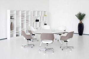 Kantoorinrichting Rotterdam meubelmerk Twinform vergadertafel