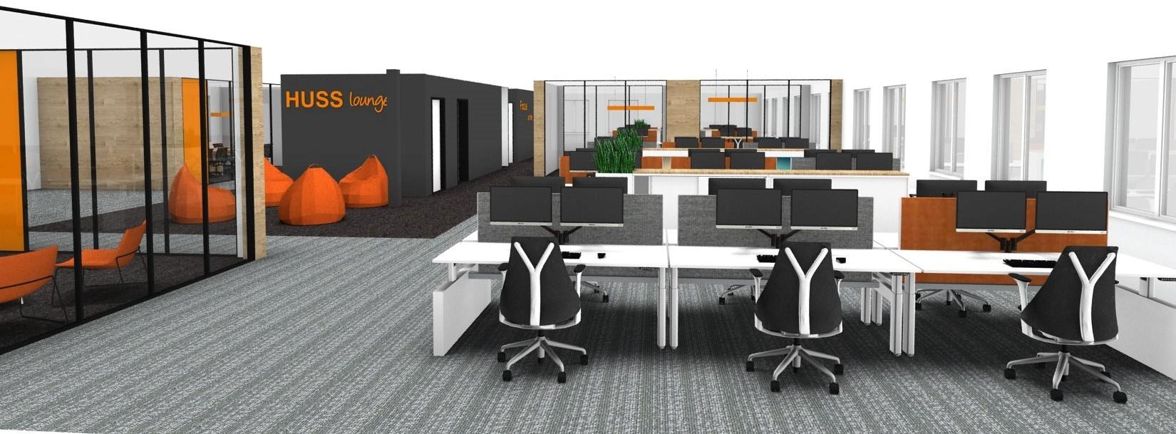 Projectinrichting: Stoer nieuw kantoor voor HUSS