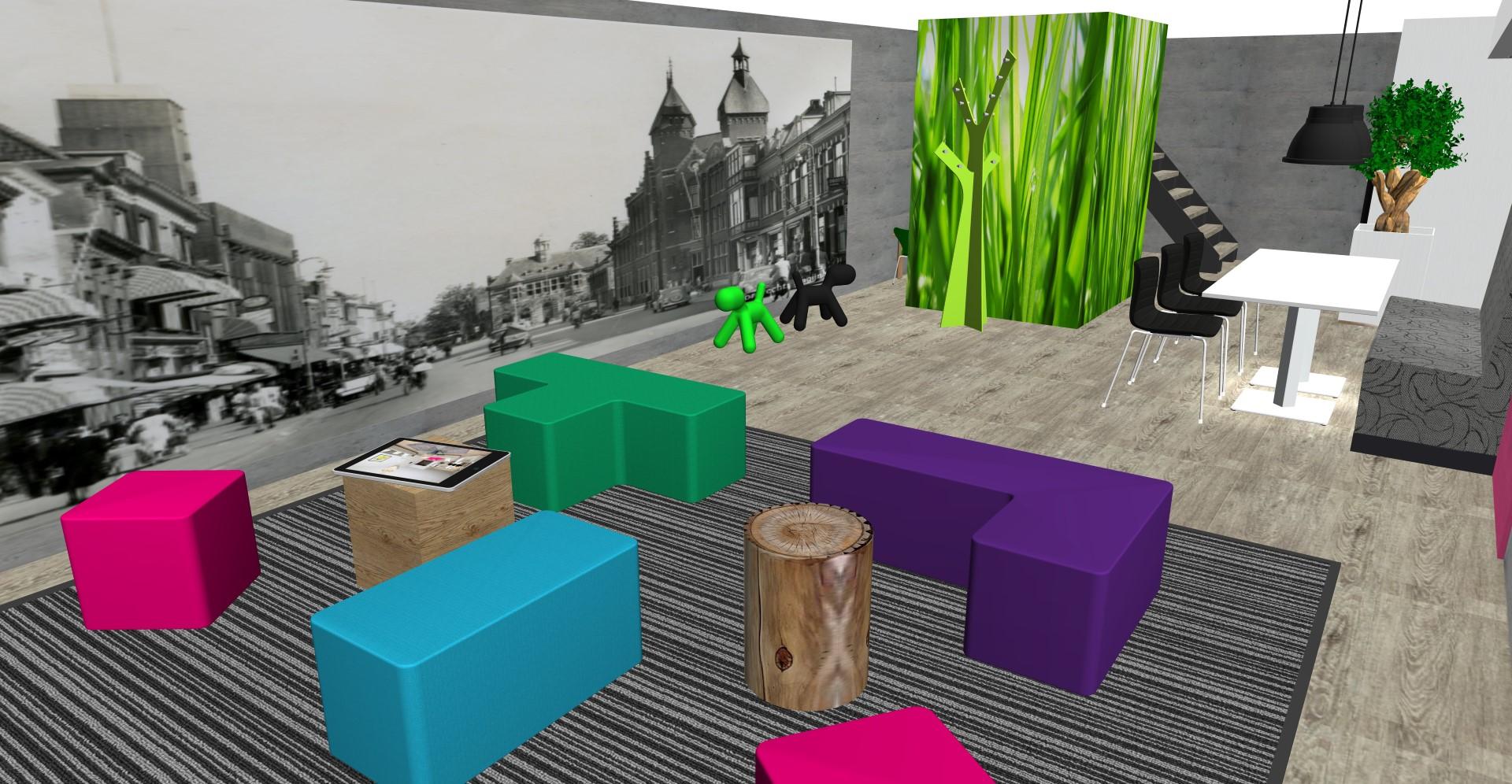 Projectinrichting: Sfeer op kantoor met een visual