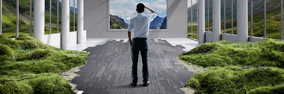 Projectinrichting: Breng het straatbeeld naar binnen met tapijttegels