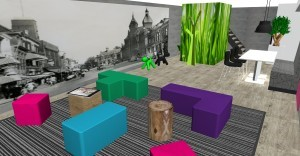 Vergaderruimte uniek ontwerp kantoorinrichting