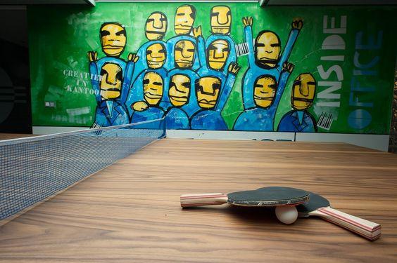 Showroom tafeltennis inspiratie kantoor