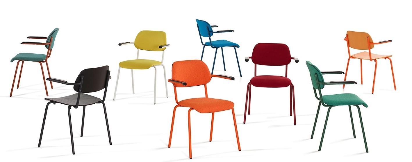 Lande Jami kleurrijk stoelen