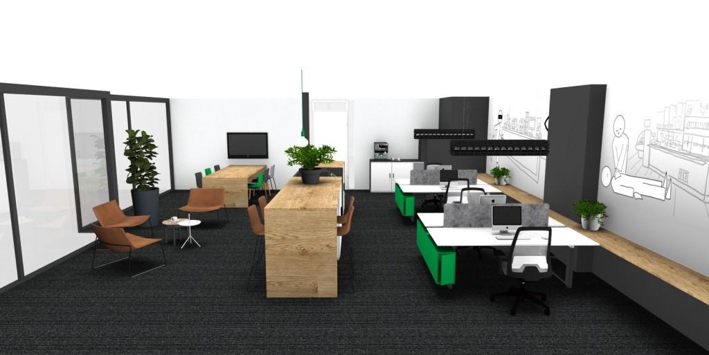 De inspirerende metamorfose van een grijs kantoor inside office - Decoreren van een professioneel kantoor ...
