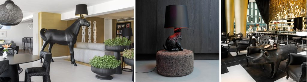 Moooi rabbit lamp Inside office