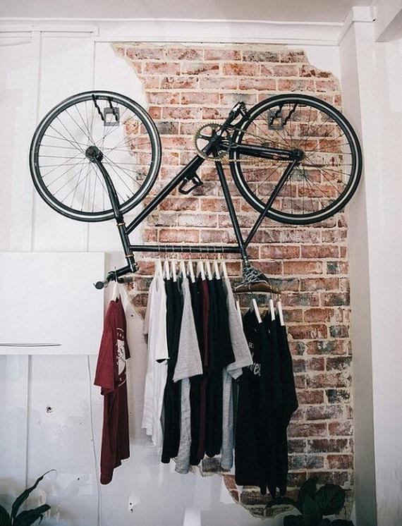 diy idee fiets kapstok