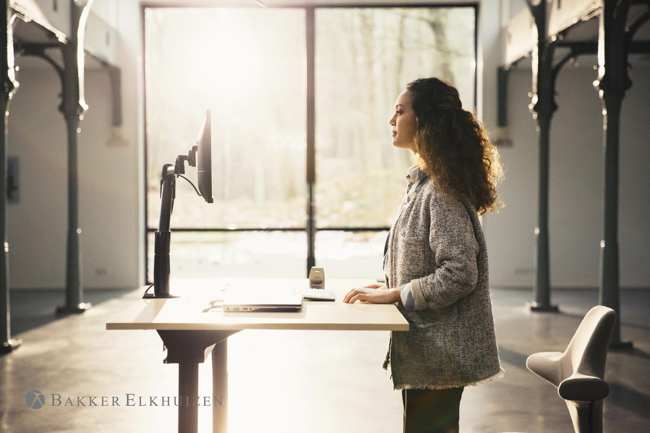 Ergonomische bureaustoel voor rugklachten