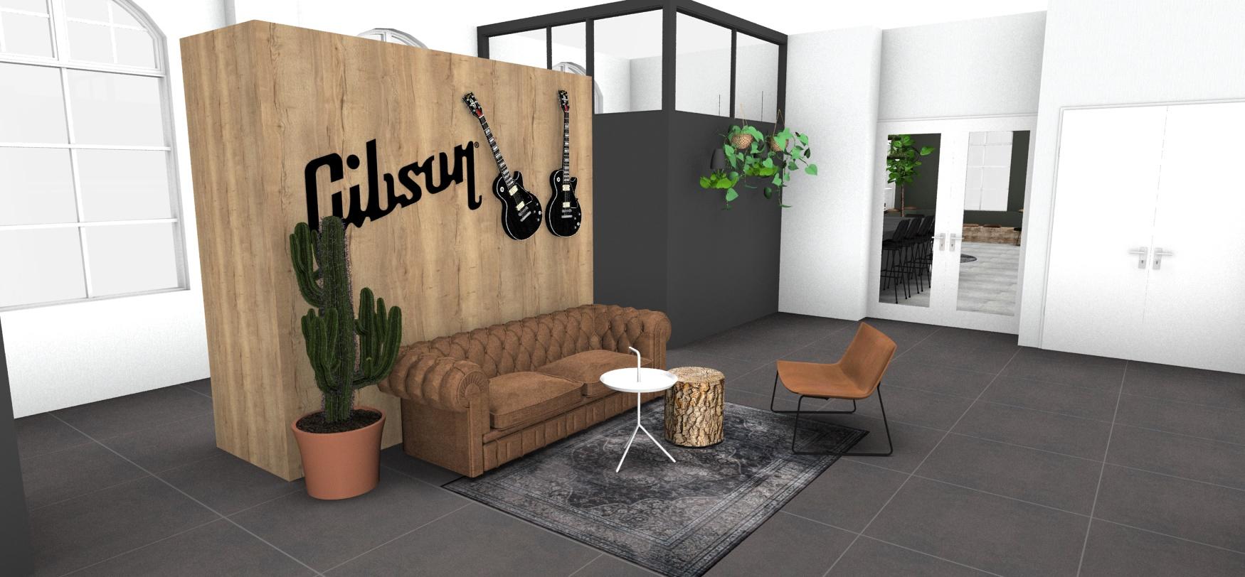 Gibson entree ontwerp tekeningen