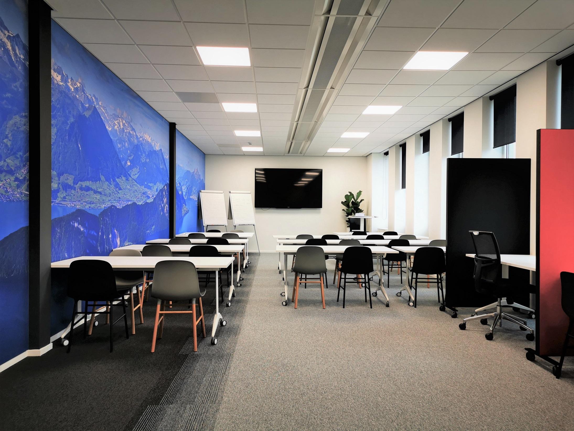 trainingsruimte kantoor design zwitserland