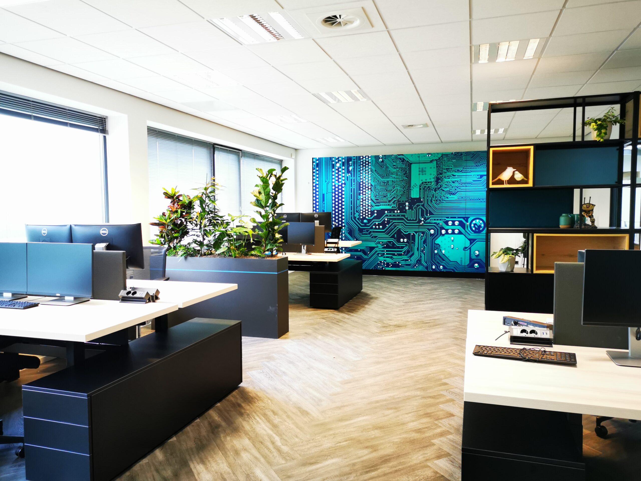 plantenbakken afscheiding kantoor corona proof