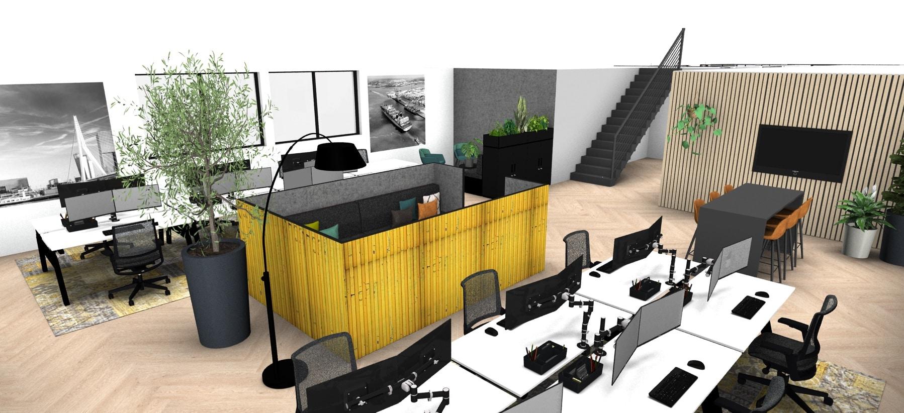 ontwerp interieur kantoor