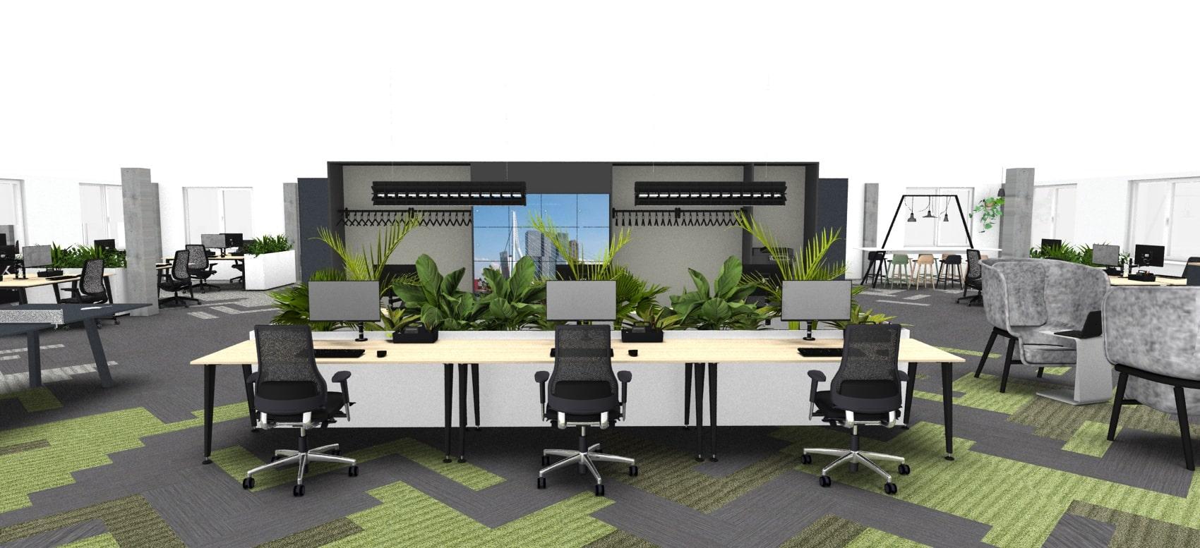 kantoor interieur clunhuis