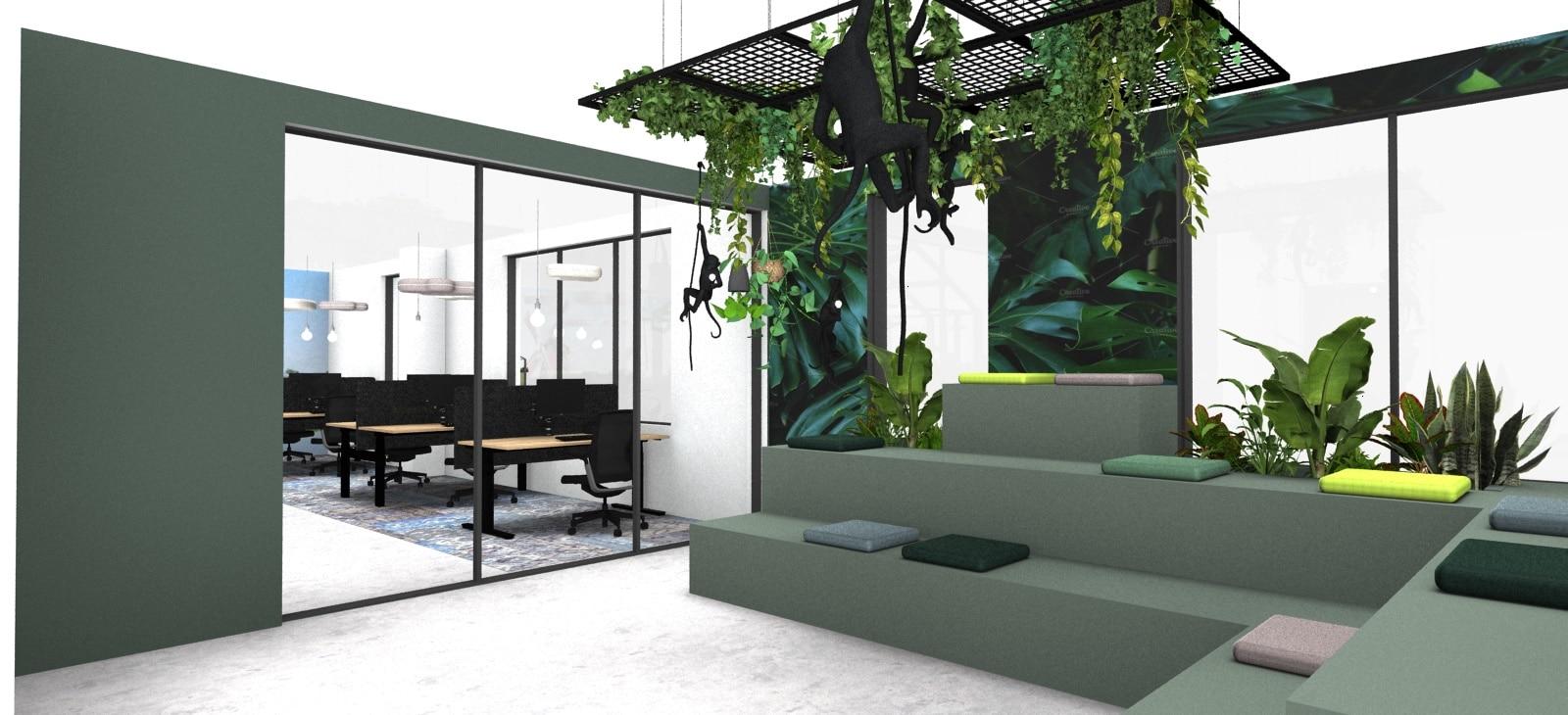 interieur ontwerp hybride werken